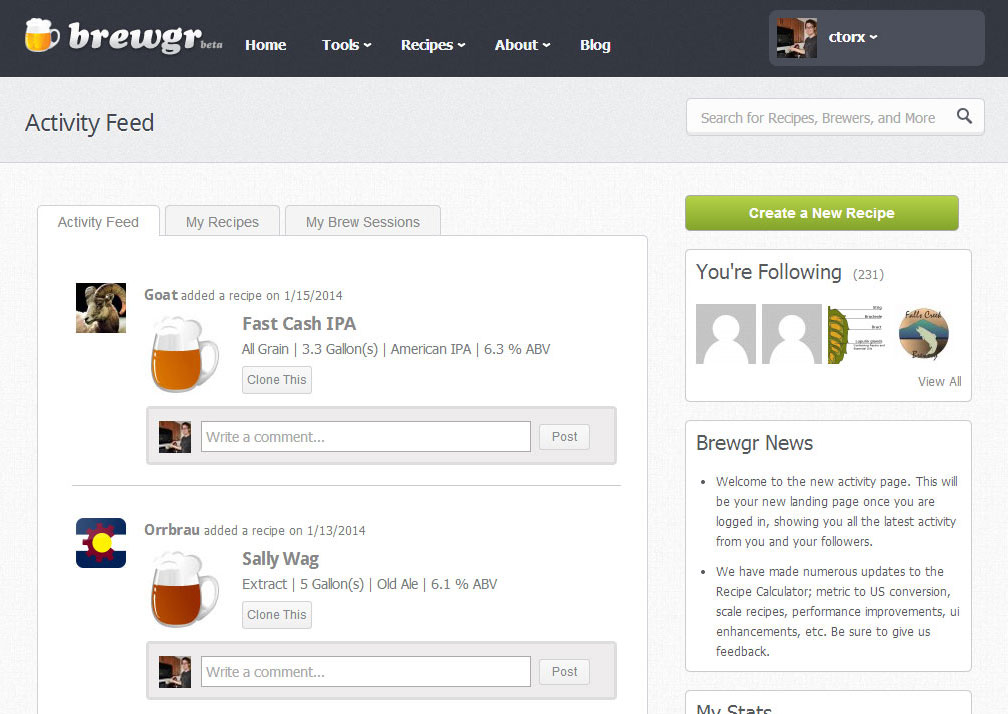 Brewgr Dashboard